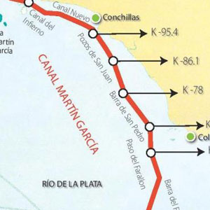 Calado Máximo para Transitar el Canal Martín García